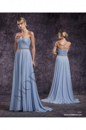 فستان سهرة طويل كت - ازرق فاتح
