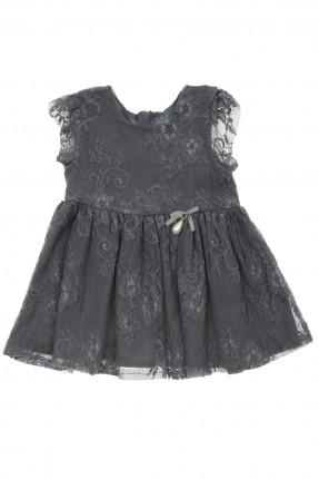 فستان بيبي بناتي دانتيل - ازرق داكن