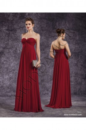 فستان سهرة طويل - احمر داكن