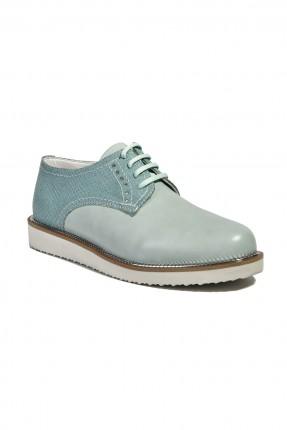 حذاء نسائي مع رباطات - اخضر