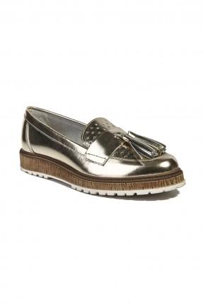 حذاء جلد نسائي - بلاتين