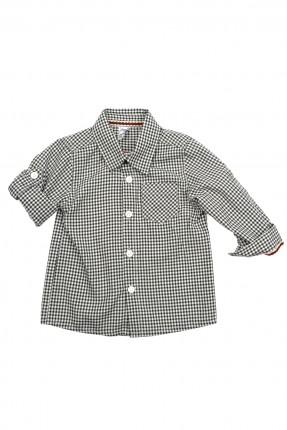 قميص بيبي ولادي كاروهات - اسود