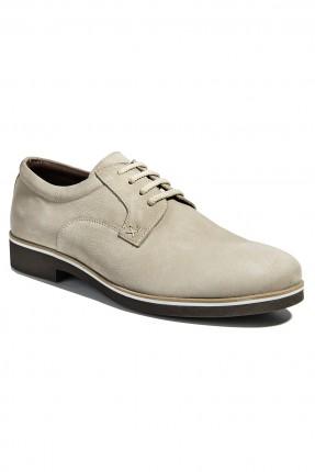 حذاء رجالي مع رباطات - بيج