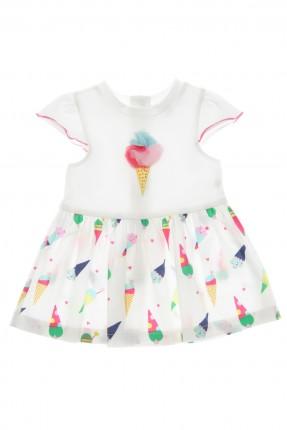 فستان بيبي بناتي مع طبعة ايس كريم