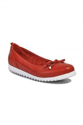 حذاء جلد نسائي - احمر