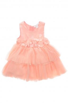 فستان بيبي بناتي طبقات - وردي