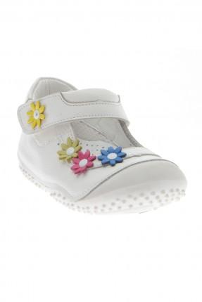 حذاء بيبي بناتي - ابيض
