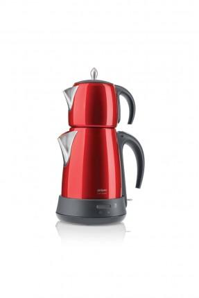 ابريق شاي تركي كهربائي / 1650 واط / احمر