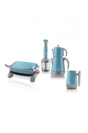 طقم اجهزة كهربائية للمطبخ - تركواز