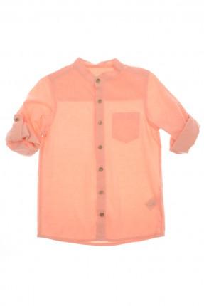 قميص اطفال ولادي - برتقالي