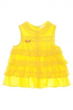 بلوزة اطفال بناتي حفر - اصفر