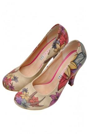 حذاء نسائي صورة ازهار