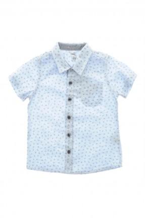 قميص نصف كم اطفال ولادي - ازرق