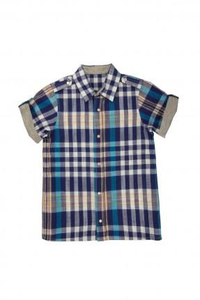 قميص نصف كم اطفال ولادي - كحلي