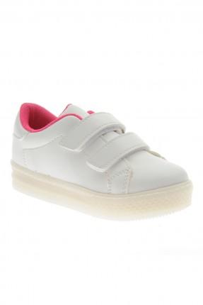 حذاء اطفال بناتي رياضي - ابيض