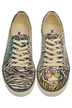 حذاء نسائي نقشة نمر