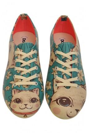 حذاء نسائي رسمة قطة