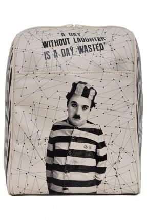 حقيبة ظهر - رمادي
