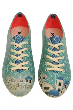 حذاء نسائي رسمة مدينة