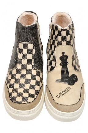 جزمة رجالية صورة شطرنج