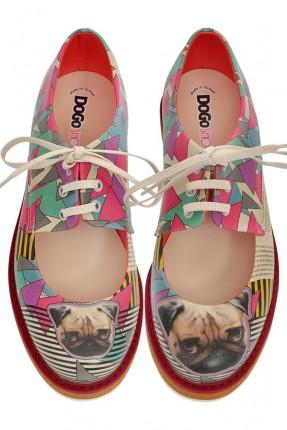 حذاء نسائي مفتوح طبعة كلب