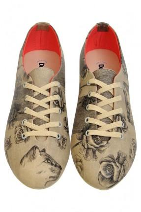 حذاء نسائي رسمة وردة
