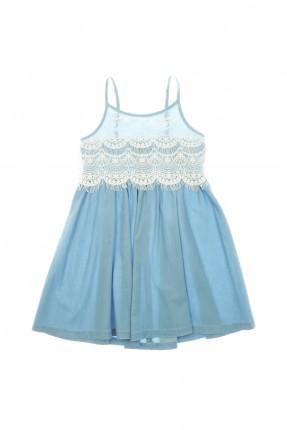 فستان اطفال بناتي - ازرق
