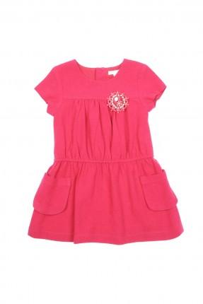 فستان اطفال بناتي - وردي غامق
