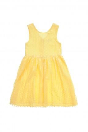 فستان اطفال بناتي - اصفر
