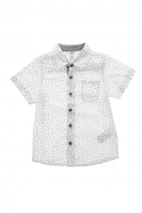 قميص اطفال ولادي- ابيض