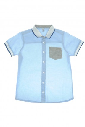 قميص اطفال ولادي - ازرق