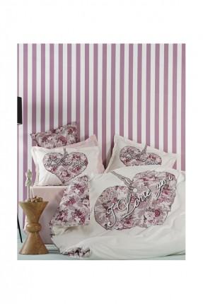 طقم غطاء لحاف سرير مزوج / 3 قطع / قطن 100%