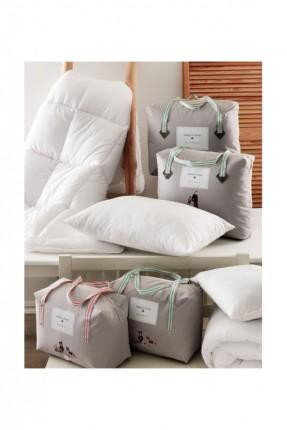 لحاف سرير مزدوج / 195 * 215 سم / مع 2 وسادة هدية