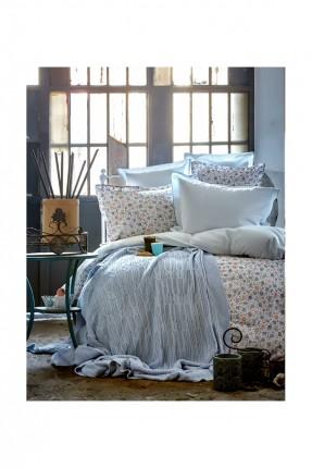 طقم غطاء سرير مفرد مع بطانية - ازرق