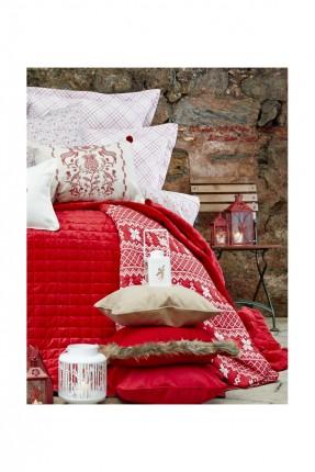 طقم غطاء سرير مزوج / قطعتين / احمر.