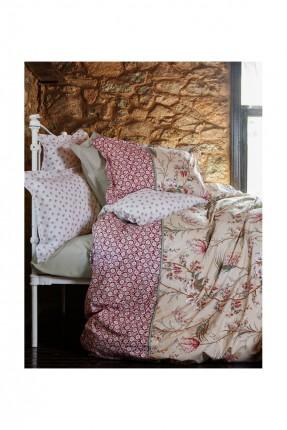 طقم غطاء لحاف سرير مفرد / 3 قطع / بيج