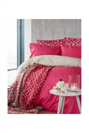 طقم اغطية سرير مفرد مع بطانية / 5 قطع / فوشي