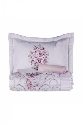 طقم غطاء سرير مفرد وردي / 4 قطع /