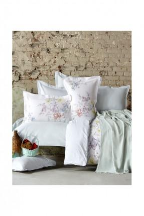 طقم غطاء سرير مزوج  مع بطانية قطني