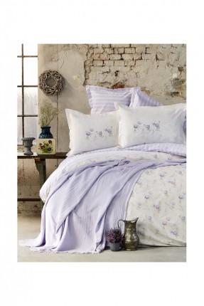 طقم غطاء سرير مفرد / 4 قطع / قطن 100%