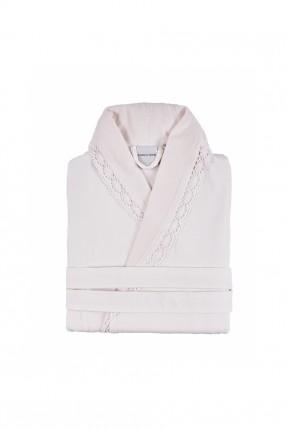 برنص نسائي مع حزام - وردي