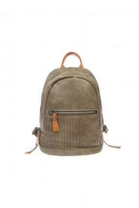 حقيبة ظهر نسائية جلد - اخضر