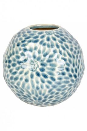 فازة سيراميك دائرية الشكل - ازرق