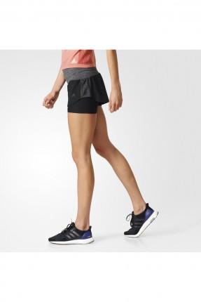 شورت نسائي  adidas - اسود