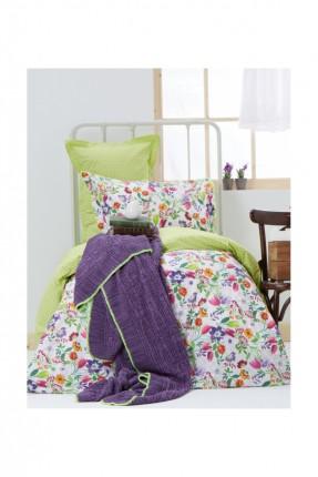 طقم غطاء سرير مفرد مع بطانية