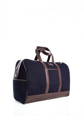 حقيبة يد جلد رجالي - ازرق