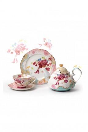 طقم شاي كامل - 6 اشخاص / 23 قطعة /