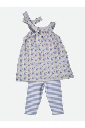 فستان بيبي بناتي مع بنطال