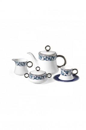 طقم شاي كامل - 6 اشخاص / 17 قطعة /