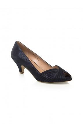 حذاء نسائي جلد - ازرق داكن
